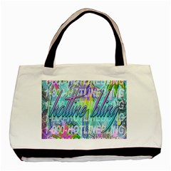 Drake 1 800 Hotline Bling Basic Tote Bag (two Sides) by Onesevenart