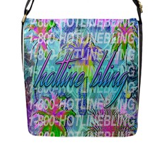 Drake 1 800 Hotline Bling Flap Messenger Bag (l)  by Onesevenart