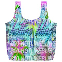 Drake 1 800 Hotline Bling Full Print Recycle Bags (l)  by Onesevenart