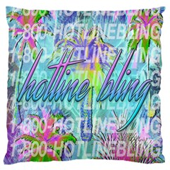 Drake 1 800 Hotline Bling Large Flano Cushion Case (two Sides) by Onesevenart