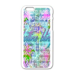 Drake 1 800 Hotline Bling Apple Iphone 6/6s White Enamel Case by Onesevenart