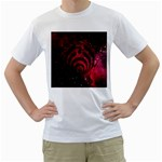 Bassnectar Galaxy Nebula Men s T-Shirt (White) (Two Sided)