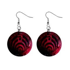Bassnectar Galaxy Nebula Mini Button Earrings by Onesevenart