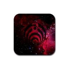 Bassnectar Galaxy Nebula Rubber Coaster (square)  by Onesevenart
