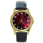 Bassnectar Galaxy Nebula Round Gold Metal Watch