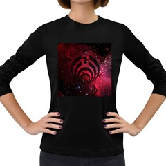 Bassnectar Galaxy Nebula Women s Long Sleeve Dark T Shirts by Onesevenart
