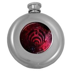 Bassnectar Galaxy Nebula Round Hip Flask (5 Oz) by Onesevenart