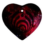 Bassnectar Galaxy Nebula Heart Ornament (2 Sides)