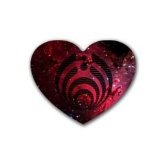 Bassnectar Galaxy Nebula Rubber Coaster (heart)  by Onesevenart