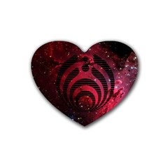 Bassnectar Galaxy Nebula Heart Coaster (4 Pack)  by Onesevenart