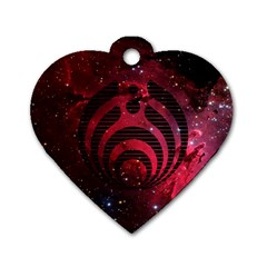 Bassnectar Galaxy Nebula Dog Tag Heart (two Sides) by Onesevenart