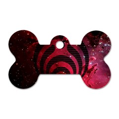 Bassnectar Galaxy Nebula Dog Tag Bone (one Side) by Onesevenart