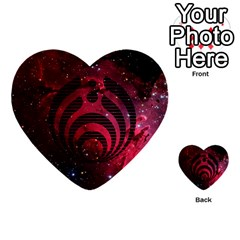 Bassnectar Galaxy Nebula Multi Purpose Cards (heart)  by Onesevenart