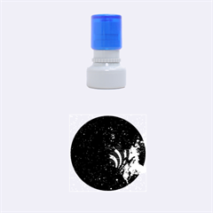 Bassnectar Galaxy Nebula Rubber Round Stamps (small) by Onesevenart