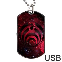 Bassnectar Galaxy Nebula Dog Tag Usb Flash (two Sides)  by Onesevenart