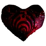 Bassnectar Galaxy Nebula Large 19  Premium Heart Shape Cushions