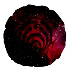 Bassnectar Galaxy Nebula Large 18  Premium Flano Round Cushions by Onesevenart