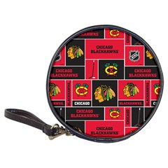 Chicago Blackhawks Nhl Block Fleece Fabric Classic 20 Cd Wallets by Onesevenart