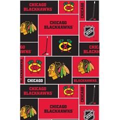 Chicago Blackhawks Nhl Block Fleece Fabric 5 5  X 8 5  Notebooks by Onesevenart