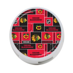 Chicago Blackhawks Nhl Block Fleece Fabric 4 Port Usb Hub (one Side) by Onesevenart