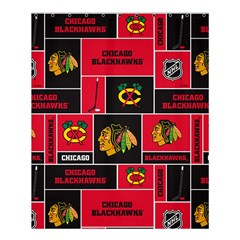 Chicago Blackhawks Nhl Block Fleece Fabric Shower Curtain 60  X 72  (medium)  by Onesevenart