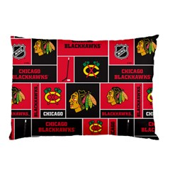 Chicago Blackhawks Nhl Block Fleece Fabric Pillow Case (two Sides) by Onesevenart
