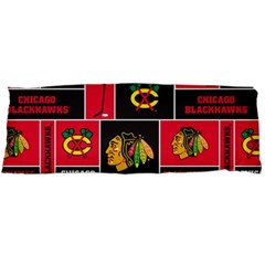 Chicago Blackhawks Nhl Block Fleece Fabric Body Pillow Case Dakimakura (two Sides) by Onesevenart
