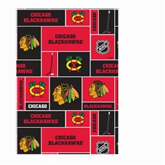 Chicago Blackhawks Nhl Block Fleece Fabric Large Garden Flag (two Sides) by Onesevenart