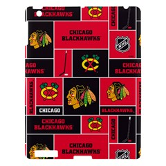 Chicago Blackhawks Nhl Block Fleece Fabric Apple Ipad 3/4 Hardshell Case by Onesevenart