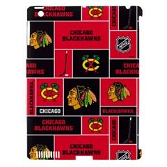 Chicago Blackhawks Nhl Block Fleece Fabric Apple Ipad 3/4 Hardshell Case (compatible With Smart Cover) by Onesevenart