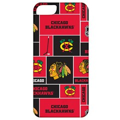 Chicago Blackhawks Nhl Block Fleece Fabric Apple Iphone 5 Classic Hardshell Case by Onesevenart