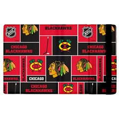 Chicago Blackhawks Nhl Block Fleece Fabric Apple Ipad 2 Flip Case by Onesevenart