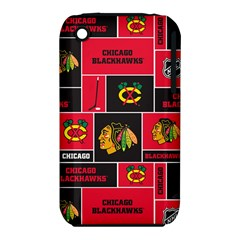Chicago Blackhawks Nhl Block Fleece Fabric Apple Iphone 3g/3gs Hardshell Case (pc+silicone) by Onesevenart