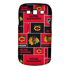 Chicago Blackhawks Nhl Block Fleece Fabric Samsung Galaxy S Iii Classic Hardshell Case (pc+silicone) by Onesevenart