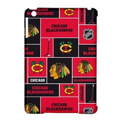 Chicago Blackhawks Nhl Block Fleece Fabric Apple Ipad Mini Hardshell Case (compatible With Smart Cover) by Onesevenart