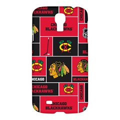 Chicago Blackhawks Nhl Block Fleece Fabric Samsung Galaxy S4 I9500/i9505 Hardshell Case by Onesevenart