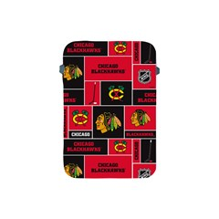 Chicago Blackhawks Nhl Block Fleece Fabric Apple Ipad Mini Protective Soft Cases by Onesevenart