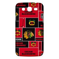 Chicago Blackhawks Nhl Block Fleece Fabric Samsung Galaxy Mega 5 8 I9152 Hardshell Case  by Onesevenart