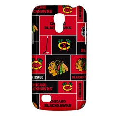 Chicago Blackhawks Nhl Block Fleece Fabric Galaxy S4 Mini by Onesevenart