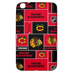 Chicago Blackhawks Nhl Block Fleece Fabric Samsung Galaxy Tab 3 (8 ) T3100 Hardshell Case  by Onesevenart