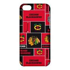 Chicago Blackhawks Nhl Block Fleece Fabric Apple Iphone 5c Hardshell Case by Onesevenart