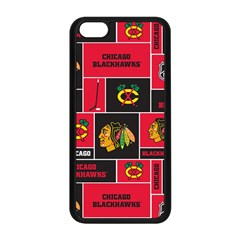 Chicago Blackhawks Nhl Block Fleece Fabric Apple Iphone 5c Seamless Case (black) by Onesevenart