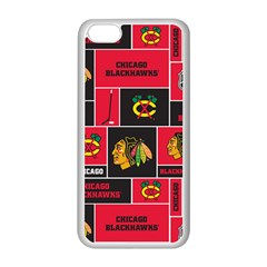 Chicago Blackhawks Nhl Block Fleece Fabric Apple Iphone 5c Seamless Case (white) by Onesevenart