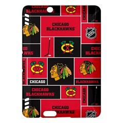 Chicago Blackhawks Nhl Block Fleece Fabric Kindle Fire Hdx Hardshell Case by Onesevenart