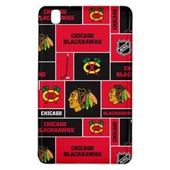 Chicago Blackhawks Nhl Block Fleece Fabric Samsung Galaxy Tab Pro 8 4 Hardshell Case by Onesevenart