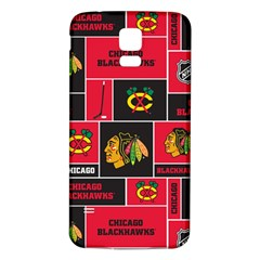 Chicago Blackhawks Nhl Block Fleece Fabric Samsung Galaxy S5 Back Case (white) by Onesevenart