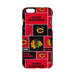 Chicago Blackhawks Nhl Block Fleece Fabric Apple Iphone 6/6s Hardshell Case by Onesevenart