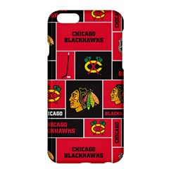 Chicago Blackhawks Nhl Block Fleece Fabric Apple Iphone 6 Plus/6s Plus Hardshell Case by Onesevenart