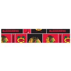 Chicago Blackhawks Nhl Block Fleece Fabric Flano Scarf (small) by Onesevenart