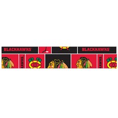 Chicago Blackhawks Nhl Block Fleece Fabric Flano Scarf (large) by Onesevenart